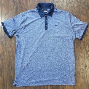 Nike Golf Dri Fit Polo Blue/Navy Blue Mens XL